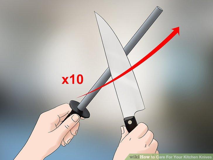 Honen Sie Ihre Messer nach dem Schärfen.