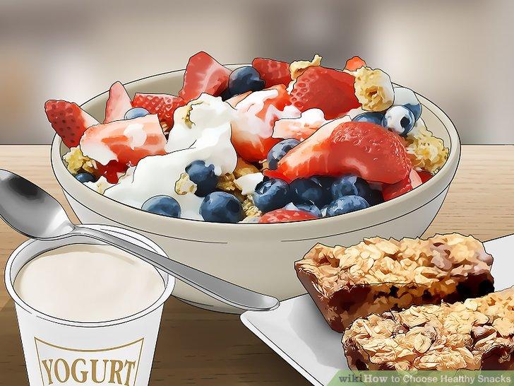 Wählen Sie Snacks mit hohem Proteingehalt.