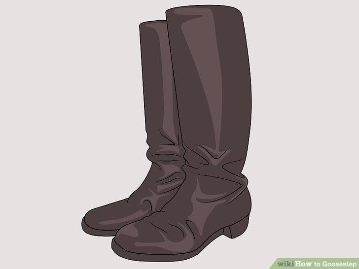 Tragen Sie die richtigen Stiefel für Gänsehaut.