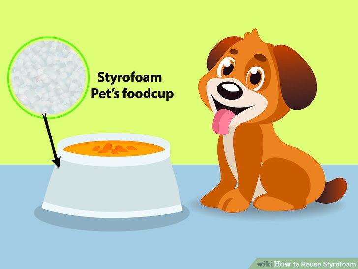 Verwenden Sie Becher als Messlöffel für Tierfutter und Streu.
