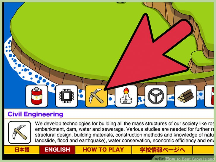 "Click on the ""Civil Engineering"" icon, which features the image of a pickaxe."