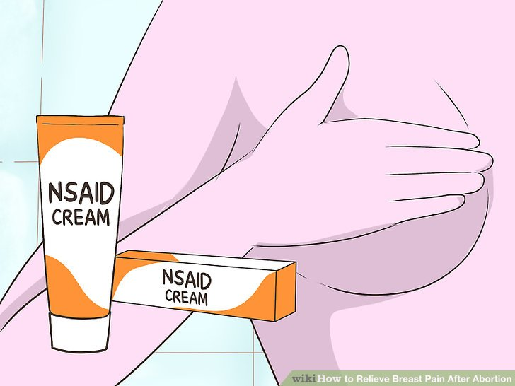 Use an NSAID topical cream for pain relief.