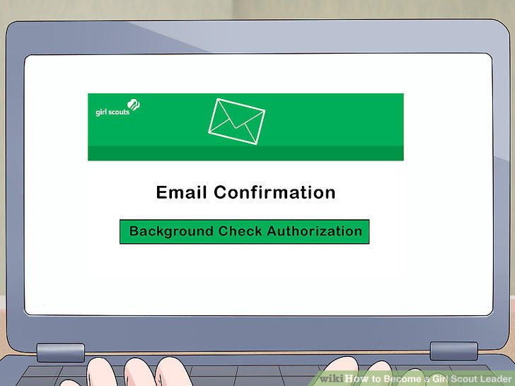 Complete your background check when you receive an emailed link.
