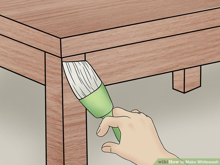 Malen Sie die Tünche auf die Möbel.