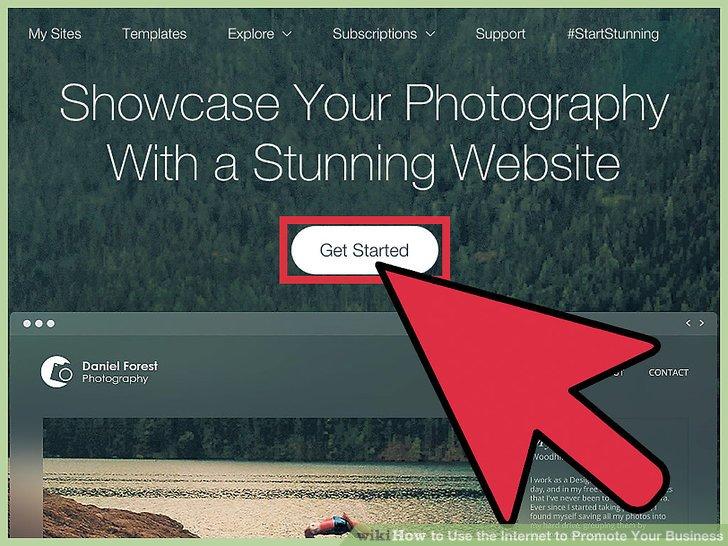Erstellen Sie Inhalte auf Ihrer Website.