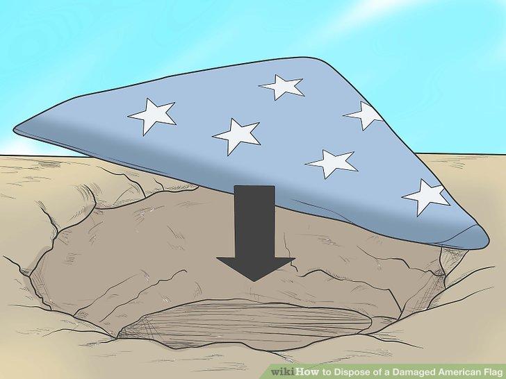 Begraben und / oder Fetzen der Flagge.