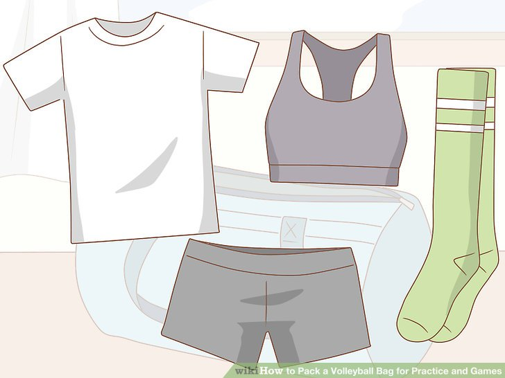 Sportkleidung einpacken.
