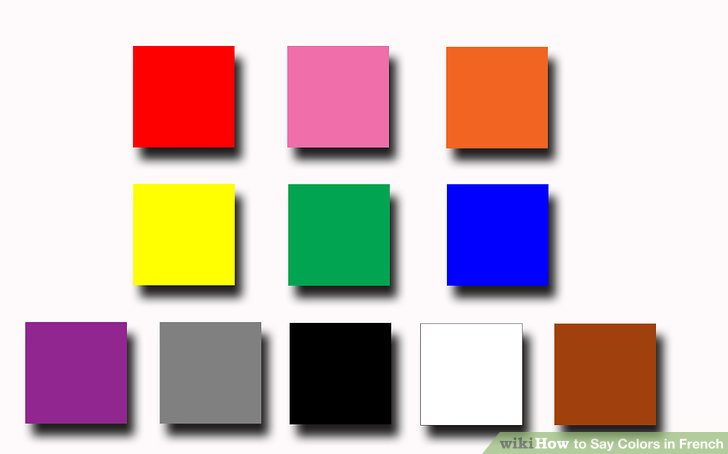 how to say colors