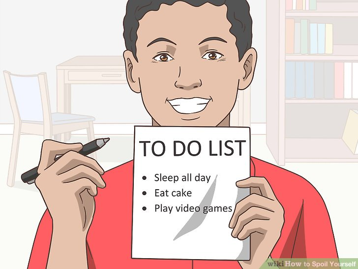 Make a list of activities you want to do.