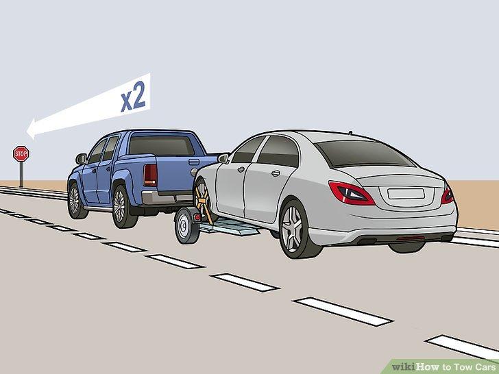 Verdoppeln Sie Ihre erwarteten Brems- und Beschleunigungswege während der Fahrt.