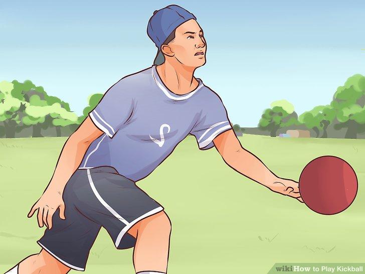 Rollen Sie den Ball.