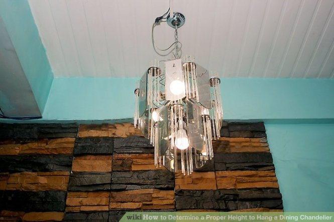 Image Led Determine A Proper Height To Hang Dining Chandelier Step 3