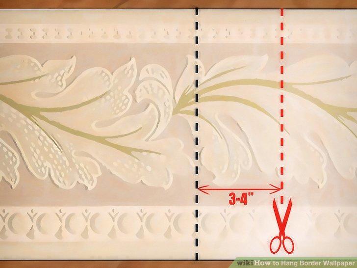 Schneiden Sie mit einer Schere einen Randstreifen mit einer Länge von 7,5 cm aus.