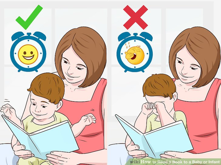 Pick a time when your child is calm and alert.
