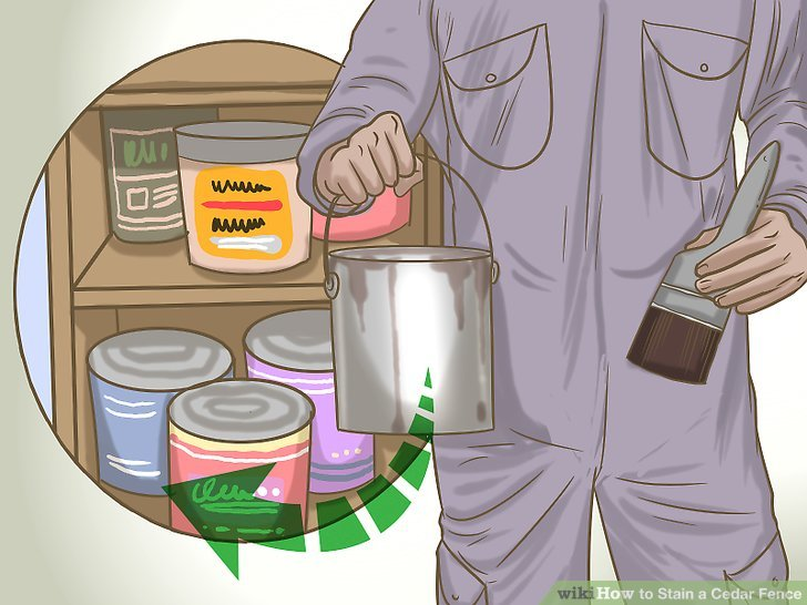 Dispose of any empty cans and store your leftover stain.