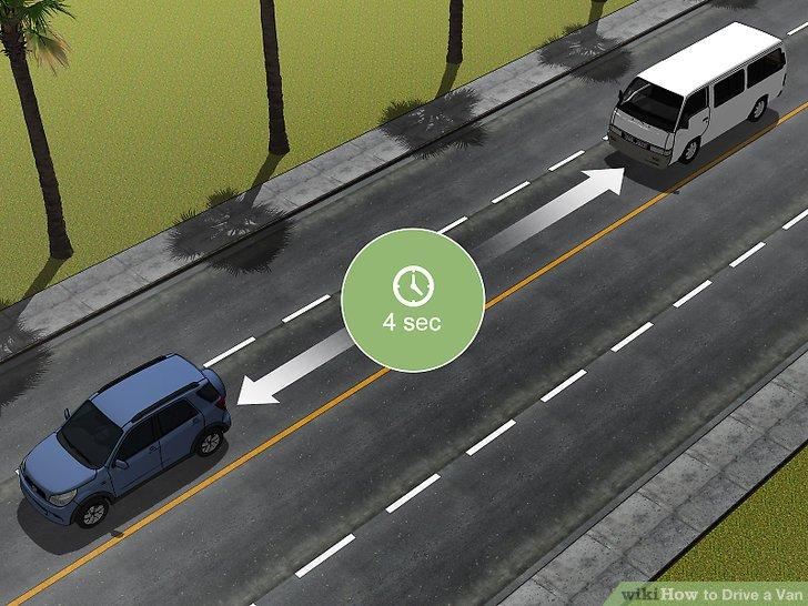 Lassen Sie zusätzlichen Abstand zwischen Ihnen und anderen Fahrzeugen.