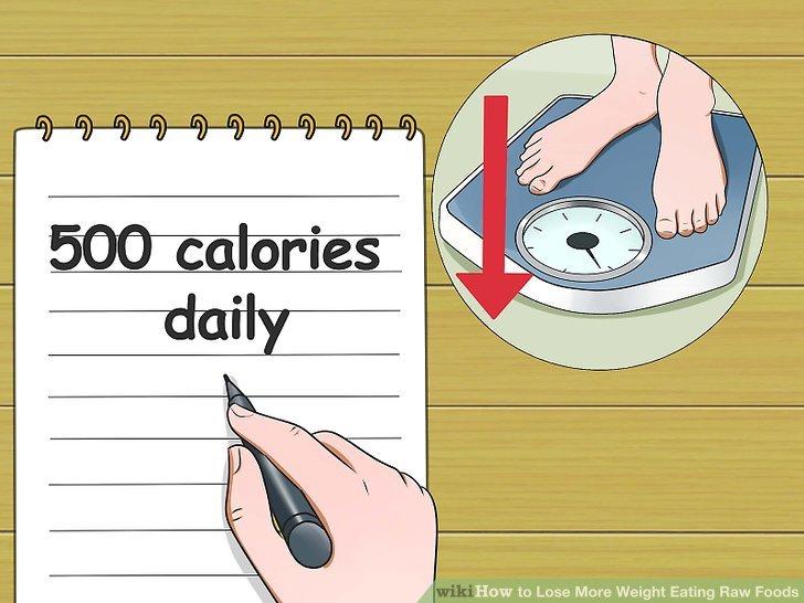 Planen Sie täglich 500 Kalorien aus.