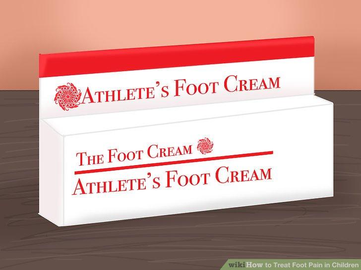Holen Sie sich medizinische Salbe für Fußpilz.