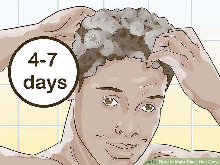 Waschen Sie Ihre Haare alle 4-7 Tage.