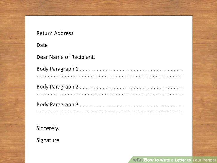 Wie ist es gemacht? - Wie Schreiben Sie einen Brief an Ihren Brieffreund
