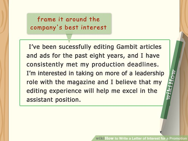 Easy Ways to Write a Letter of Interest for a Promotion - wikiHow