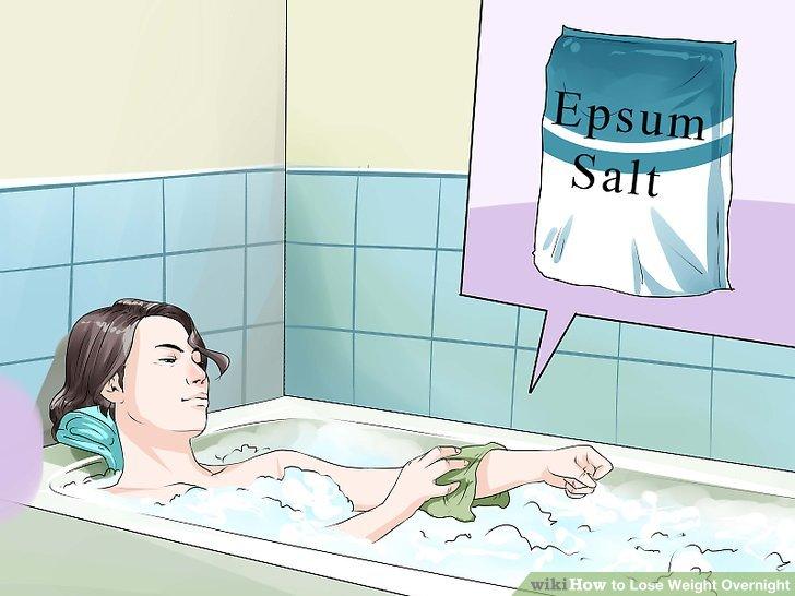 Nehmen Sie 2 bis 3 Mal pro Woche ein Bittersalzbad.