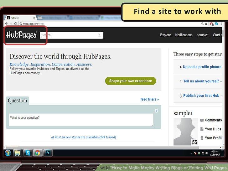 Finden Sie eine Website, mit der Sie arbeiten können.