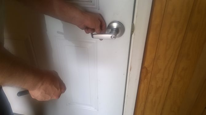 kitchen cabinet lock sunflower accessories how to remove a door handle: 5 steps (with pictures) - wikihow
