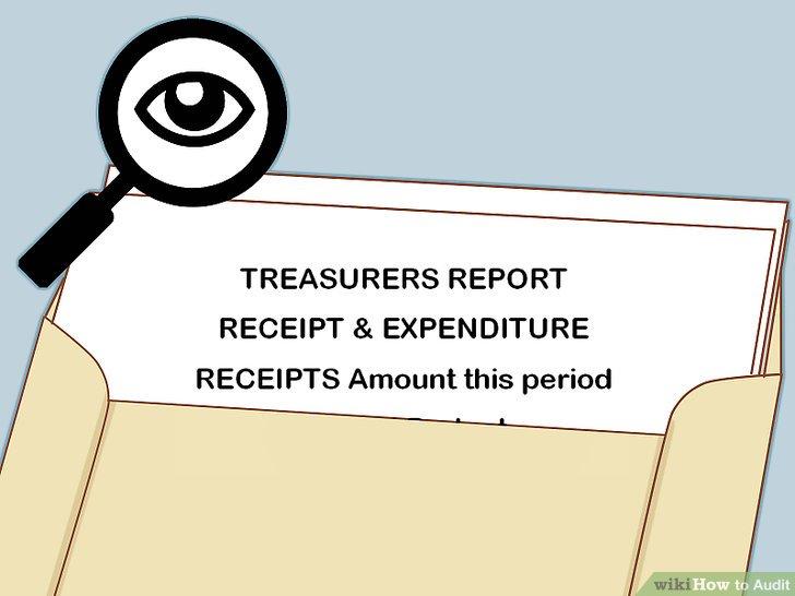 Überprüfen Sie alle Berichte des Schatzmeisters.