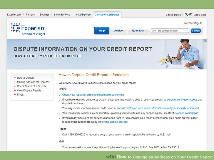 Dispute your address with Experian either online or by mail.