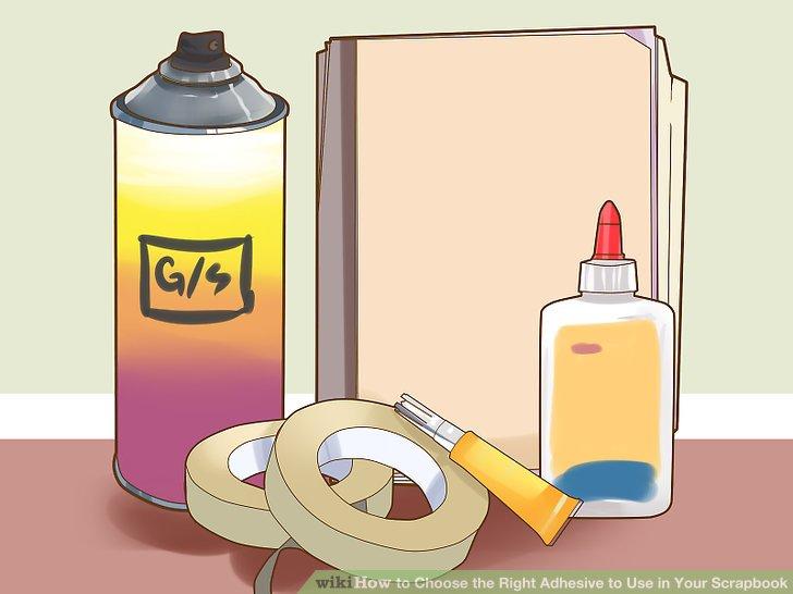 Verwenden Sie mehrere Klebstoffe in einem Sammelalbum.