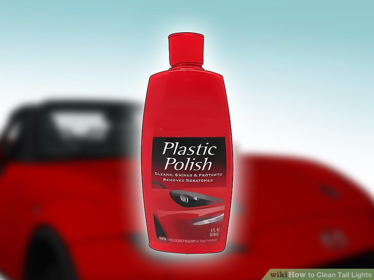 Apply a plastic polish to the tail light.