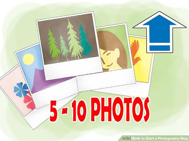 Laden Sie 5-10 Fotos hoch, wenn Sie Ihre Site erstellen.