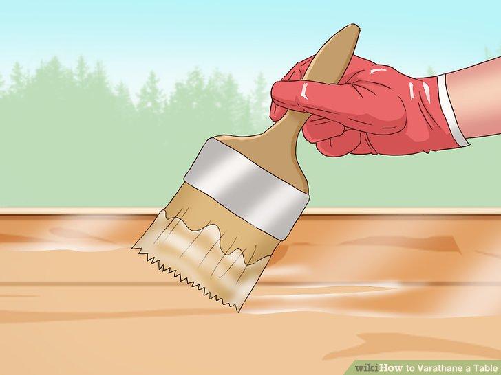 Rühren Sie den Varathane um, um es zu mischen.