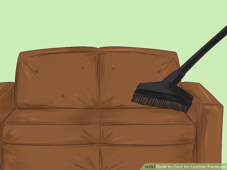 leather couch and chair wheelchair kid drifting 3 ways to care for furniture wikihow image titled step 2