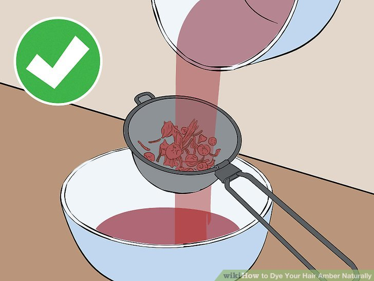 Get your hands on a strainer and place it over the container (for this try and go for a narrower container, or strain the mixture into a cup and then pour into your chosen container).