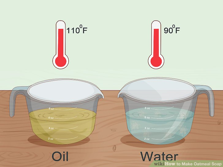 Mix the lye water and oils when they reach similar temperatures.