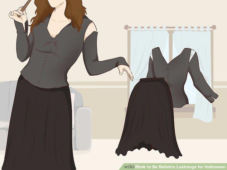 Put on a long black dress.