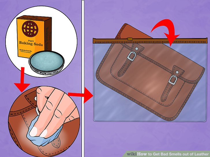 how to clean leather sofa that smells of smoke half round uk easy ways get bad out wikihow image titled step 4