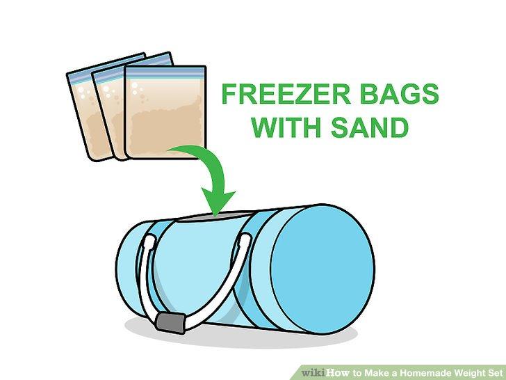 Verwenden Sie einen Seesack, um einen Sandsack herzustellen.