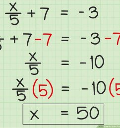 3 Ways to Solve Two Step Algebraic Equations - wikiHow [ 900 x 1200 Pixel ]
