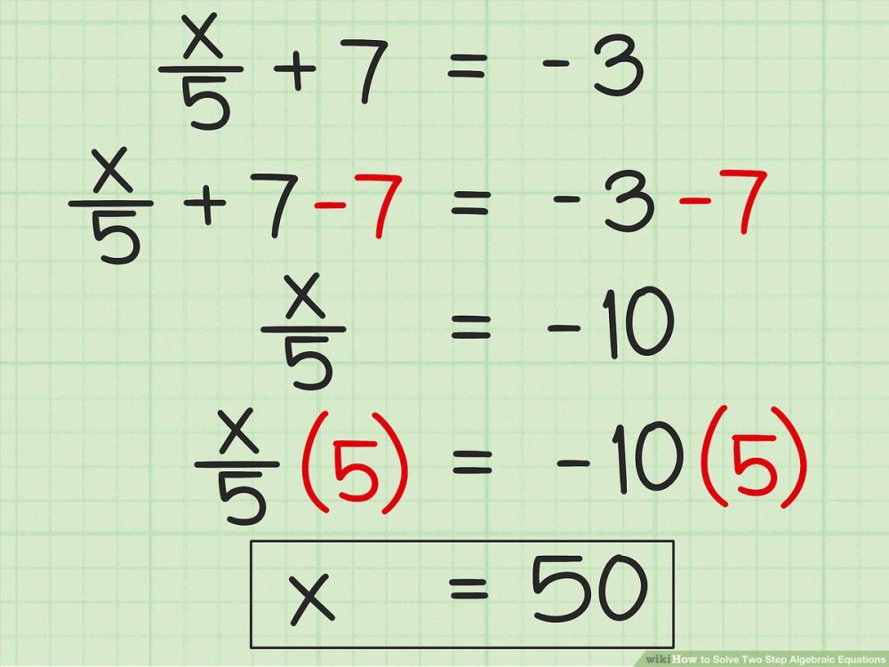 medium resolution of 3 Ways to Solve Two Step Algebraic Equations - wikiHow