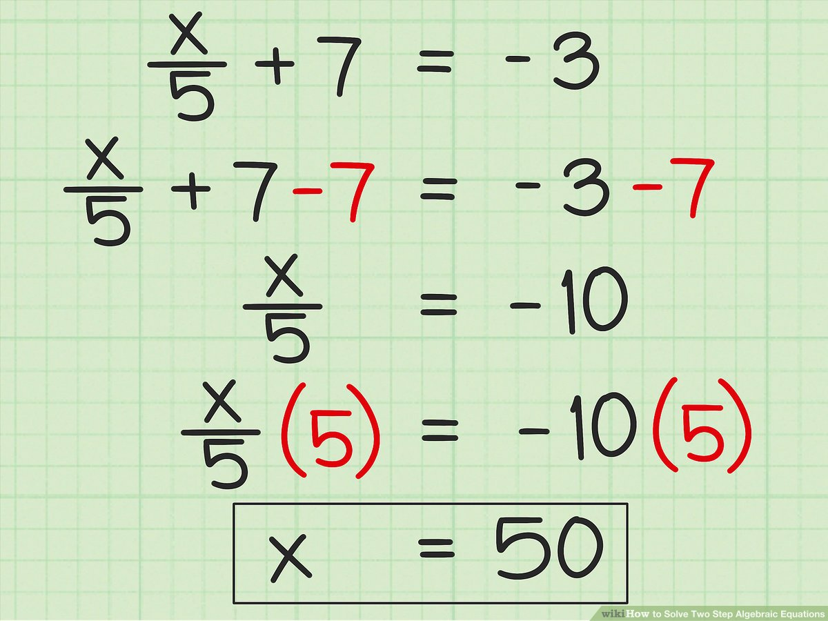 hight resolution of 3 Ways to Solve Two Step Algebraic Equations - wikiHow