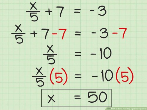 small resolution of 3 Ways to Solve Two Step Algebraic Equations - wikiHow