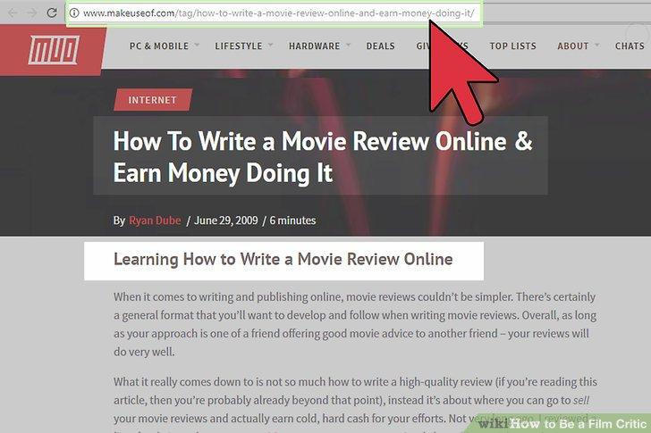 Bewerben Sie sich als Filmkritiker.