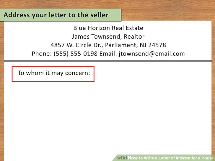 How To How to Write a Letter of Interest for a House