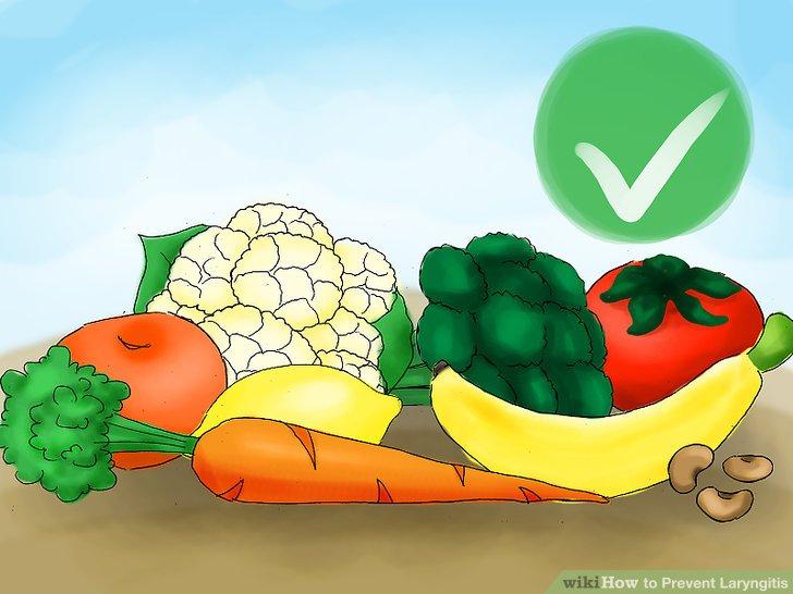 Essen Sie Lebensmittel, um Ihren Hals gesund zu halten.
