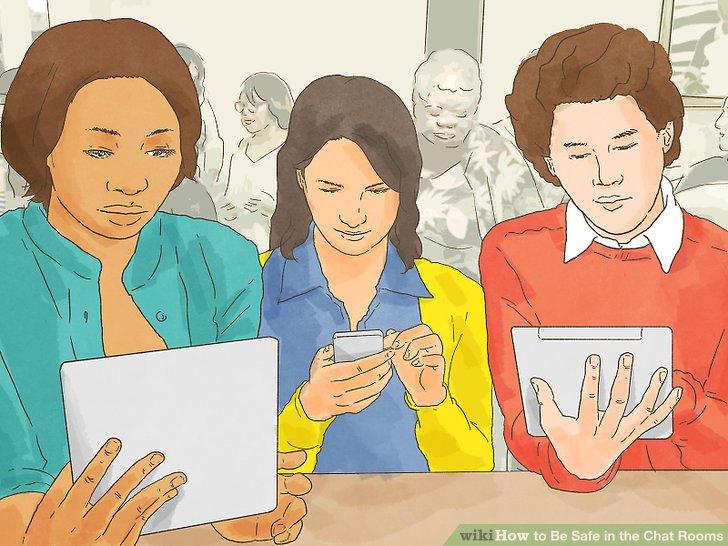 Bleiben Sie in öffentlichen Chatrooms.