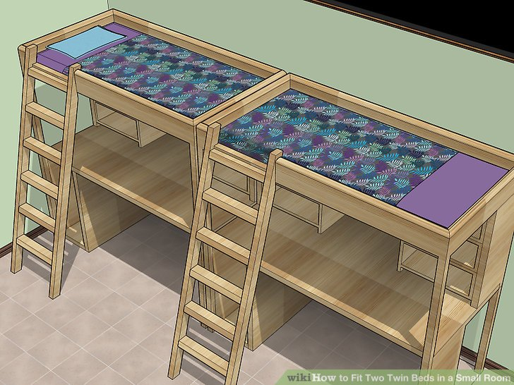 How To Fit Two Twin Beds In A Small Room Wikihow
