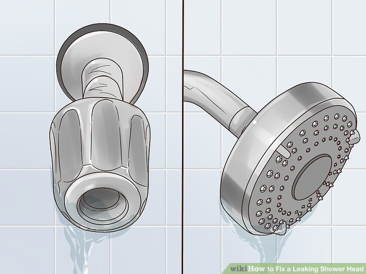 4 Ways to Fix a Leaking Shower Head  wikiHow